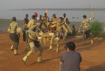 Grabando video danzas en Orango